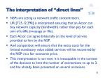 the interpretation of direct lines