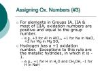 assigning ox numbers 3