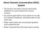 direct osmotic concentration doc system