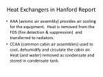heat exchangers in hanford report