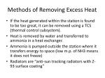 methods of removing excess heat