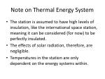 note on thermal energy system