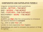 comparative and superlative forms 2