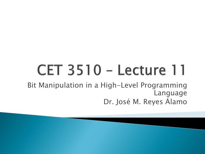 cet 3510 lecture 11 n.