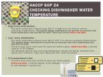 haccp sop 24 checking dishwasher water temperature
