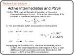 active intermediates and pssh1