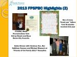 2013 fpspbc highlights 2