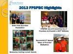 2013 fpspbc highlights