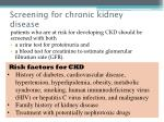 screening for chronic kidney disease