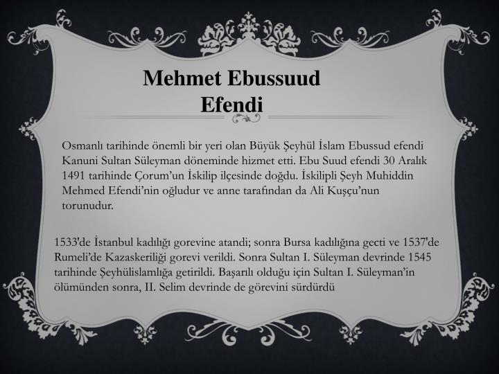Mehmet Ebussuud Efendi