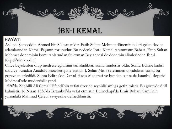 İbn-i Kemal