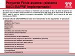 proyecto f nix avanza sistema saci safre implementado
