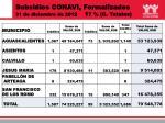 subsidios conavi formalizados 31 de diciembre de 2012 1 7 c totales