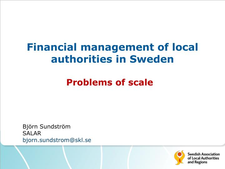 financial management of local authorities in sweden n.