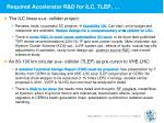required accelerator r d for ilc tlep