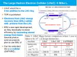 the large hadron electron collider lhec mike l