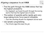 aligning a sequence to an hmm