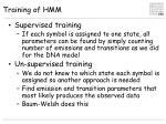 training of hmm