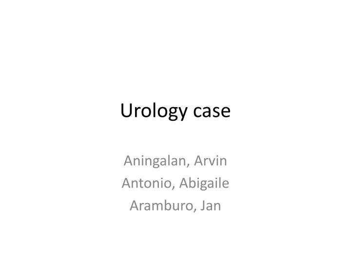 urology case n.
