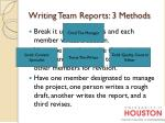 writing team reports 3 methods2