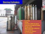 storing cylinders