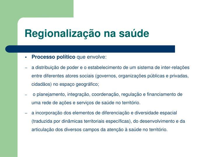 Regionalização na saúde
