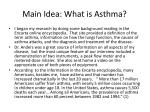 main idea what is asthma