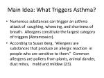 main idea what triggers asthma