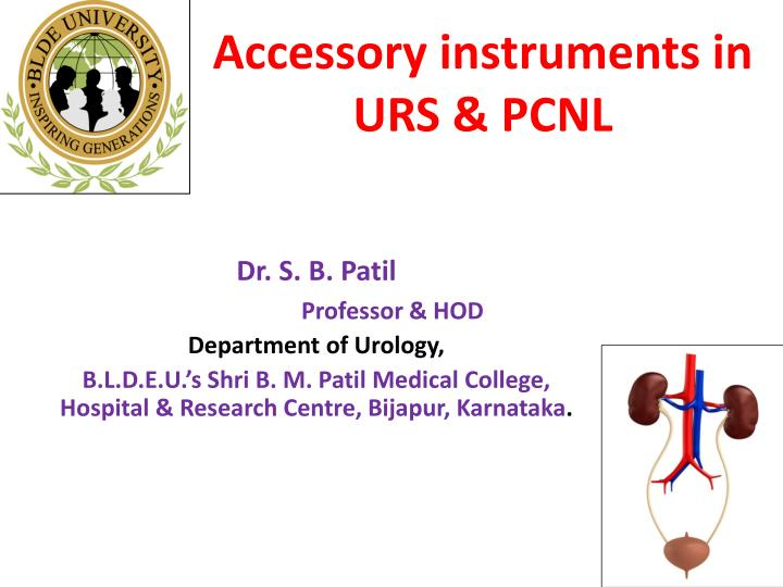 accessory instruments in urs pcnl n.