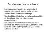 durkheim on social science