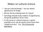 weber on cultural science