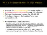 what is the best treatment for stec infection