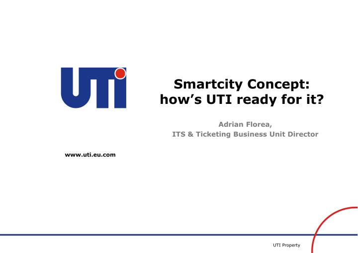 smartcity concept how s uti ready for it n.