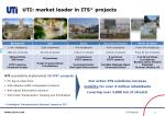 uti market leader in its projects