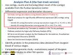 analysis plan a the fast track version