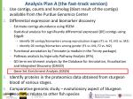 analysis plan a the fast track version5
