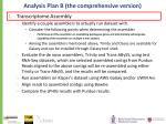analysis plan b the comprehensive version