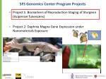 sfs genomics center program projects