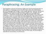 paraphrasing an example