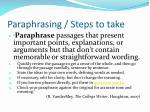 paraphrasing steps to take