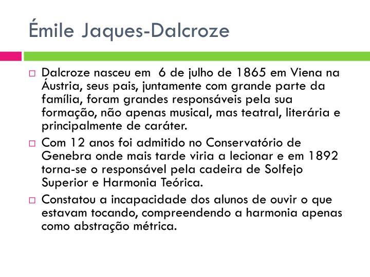 Émile Jaques-Dalcroze