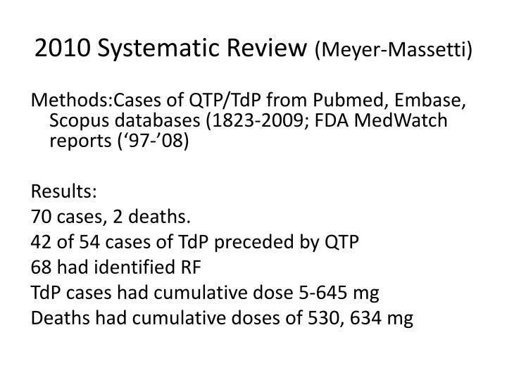 2010 Systematic Review