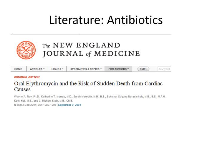 Literature: Antibiotics