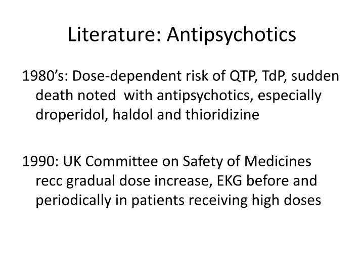 Literature: Antipsychotics