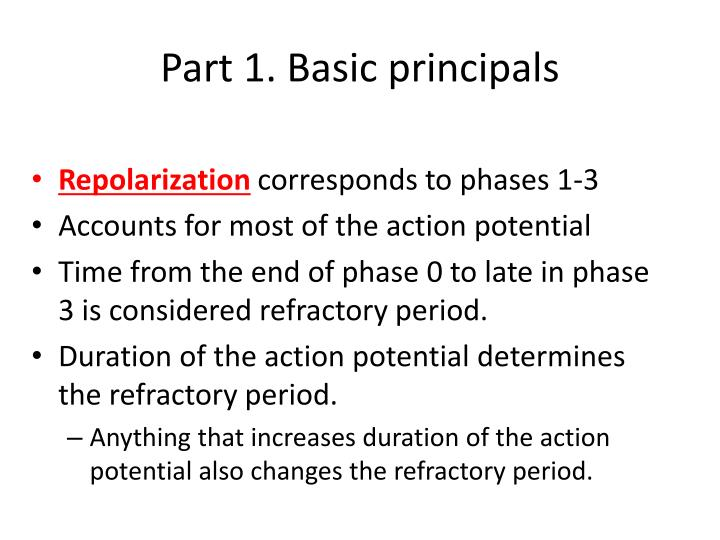 Part 1. Basic principals