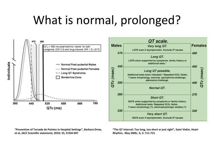What is normal, prolonged?
