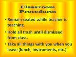 classroom procedures1