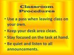 classroom procedures2