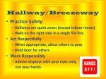 hallway breezeway