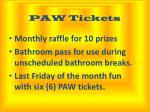 paw tickets